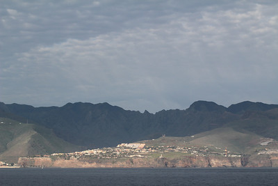 San Sebastian de la Gomera, seen from the ferry from Tenerife to La Gomera