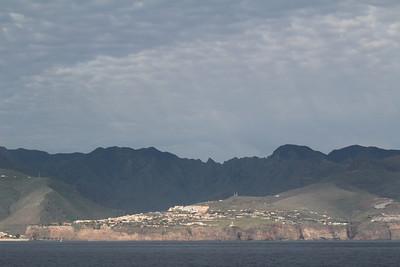 San Sebastian de la Gomera, seen from the ferry from Tenerife to La Gomera